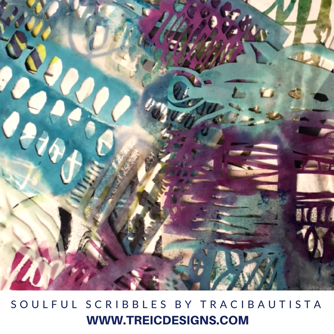 soulful scribbles stencil collection by traci bautista
