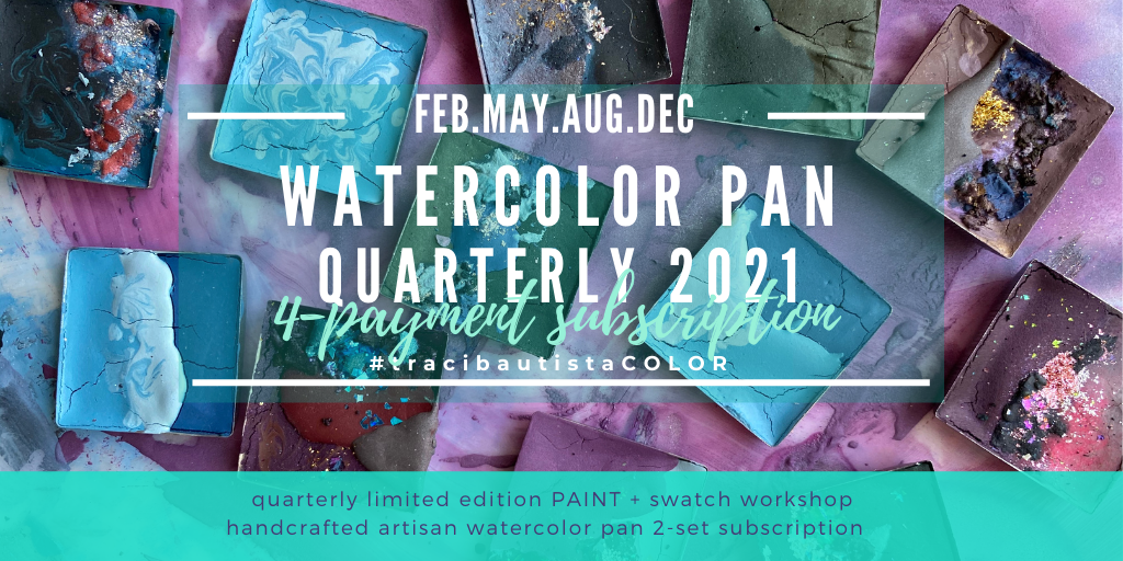 #tracibautistaCOLOR watercolor pan 2021 quarterly subscription {4-payment}