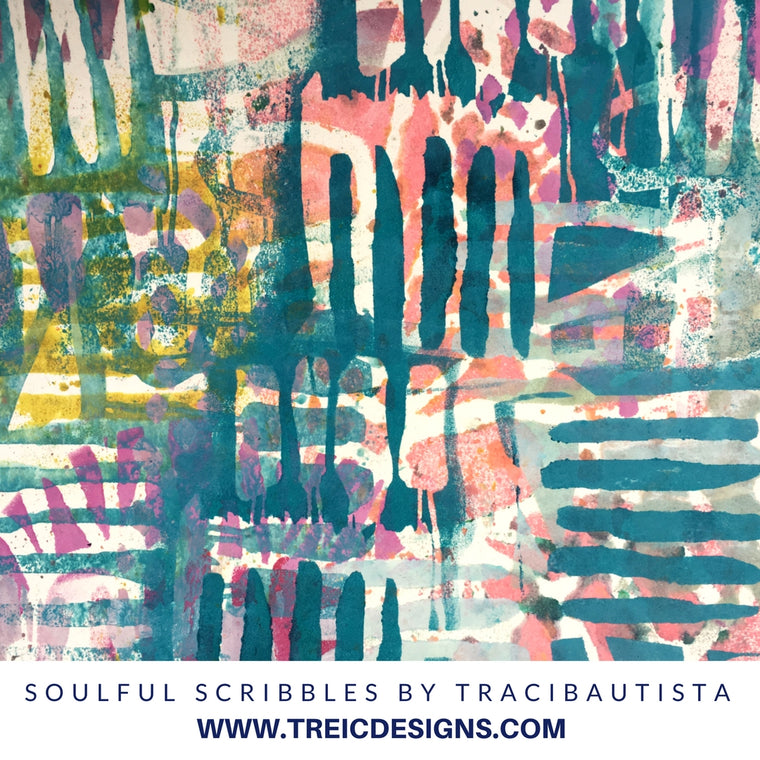 SOULFUL SCRIBBLES stencil kit no. 3 {mini cuts}