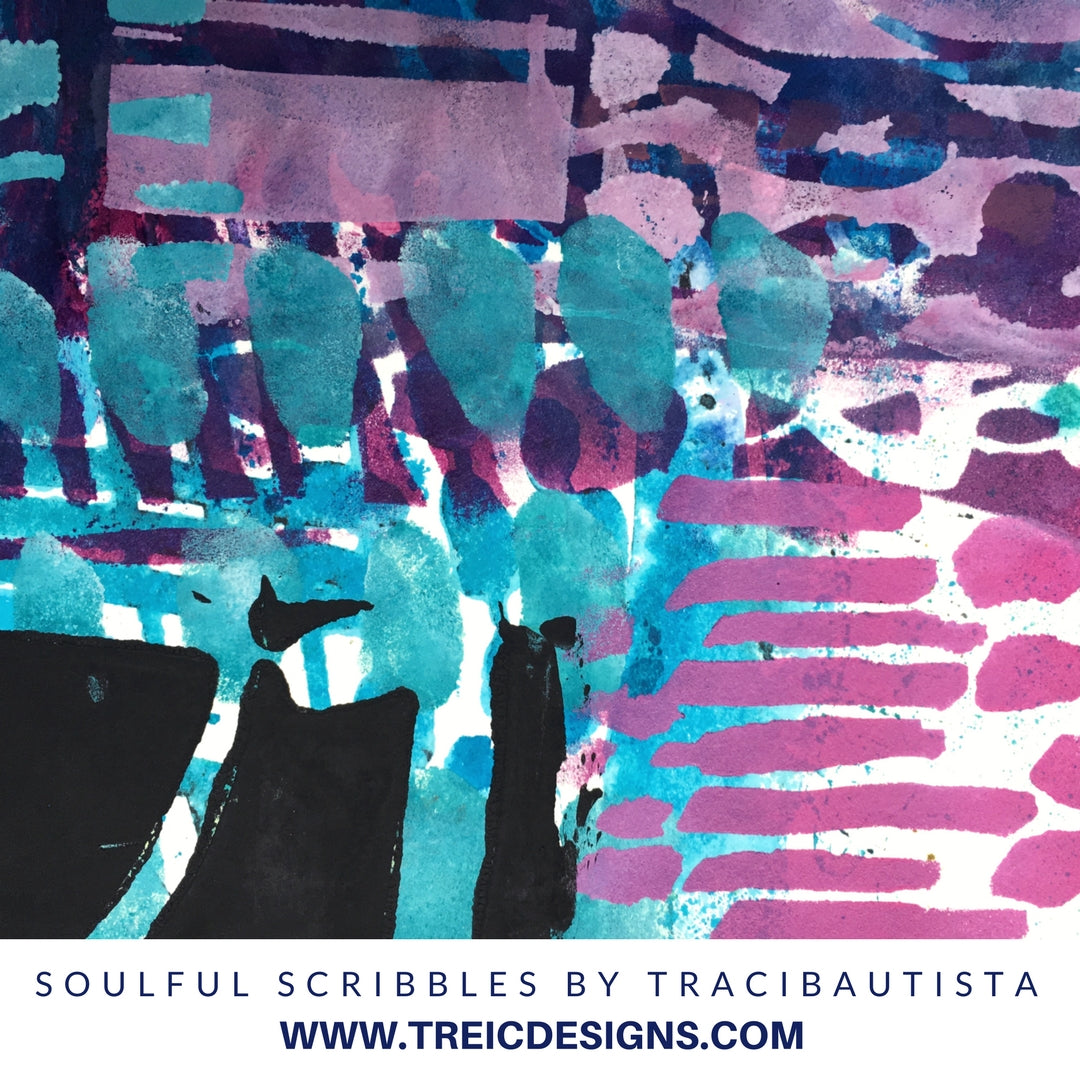 soulful scribbles let go stencil by traci bautista