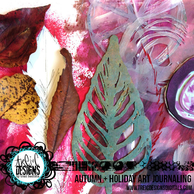 AUTUMN + holiday art journaling live stream