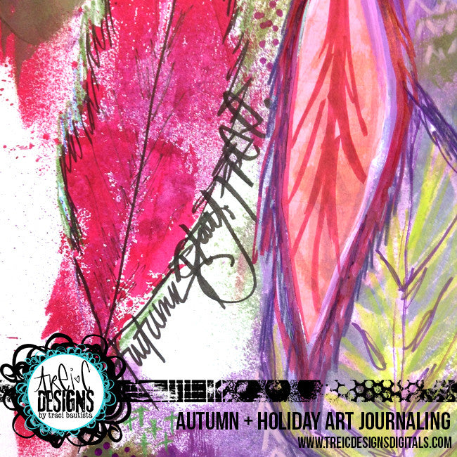 AUTUMN + holiday art journaling online workshop