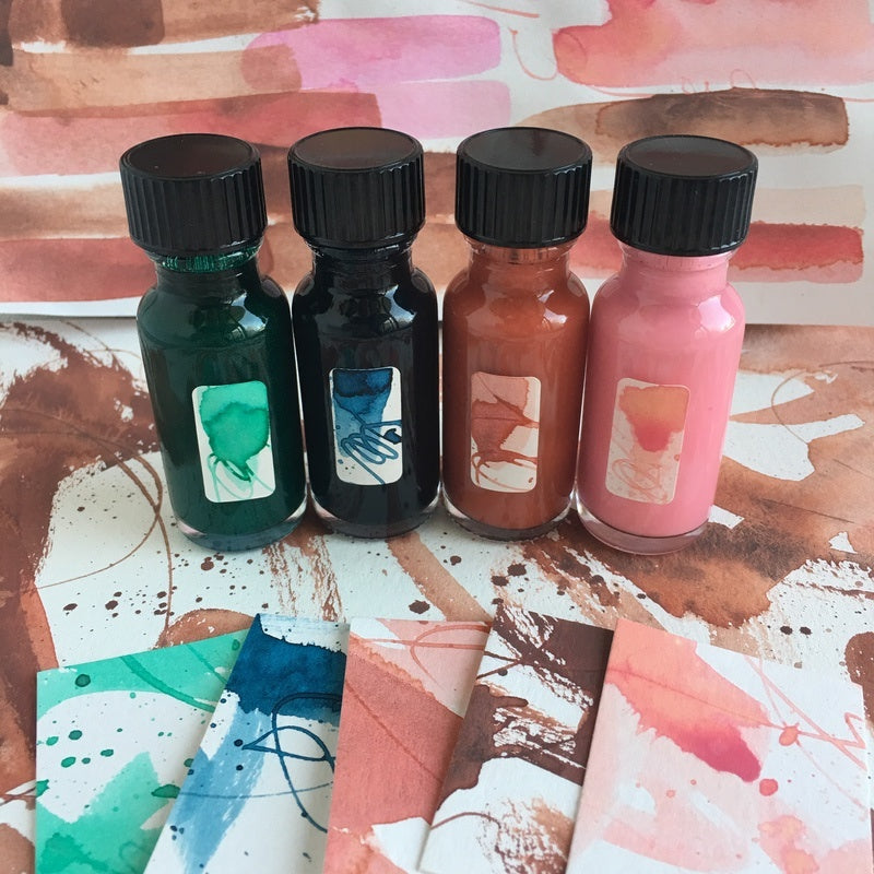 #tracibautistaCOLOR ~ boho CARAVAN artisan ink 4 set {15ml}