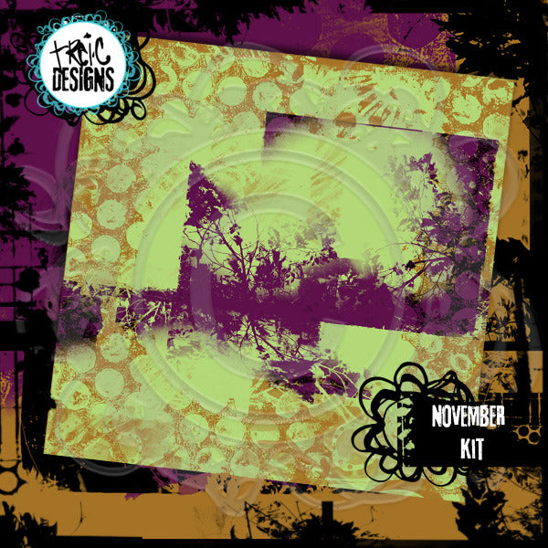 November art journaling e-book + digital collage kit