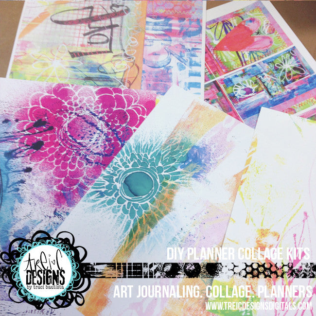 art.journal.PLAY DIY planner kit + stencil by traci bautista