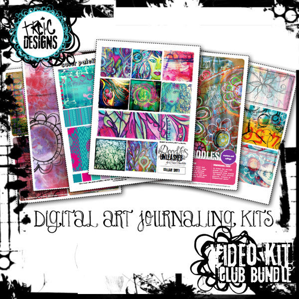 digital art journaling kits by traci bautista