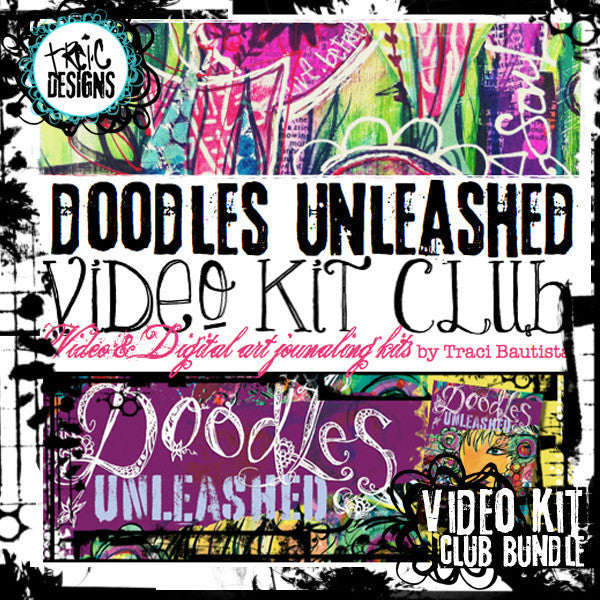 doodles unleashed video kit club by traci bautista