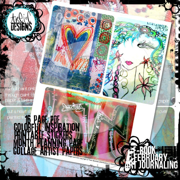February art journaling printable workbook
