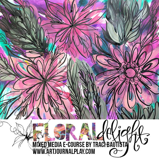 FLORAL DELIGHT +  FREESTYLE BLOOMS e-course BUNDLE {lifetime}