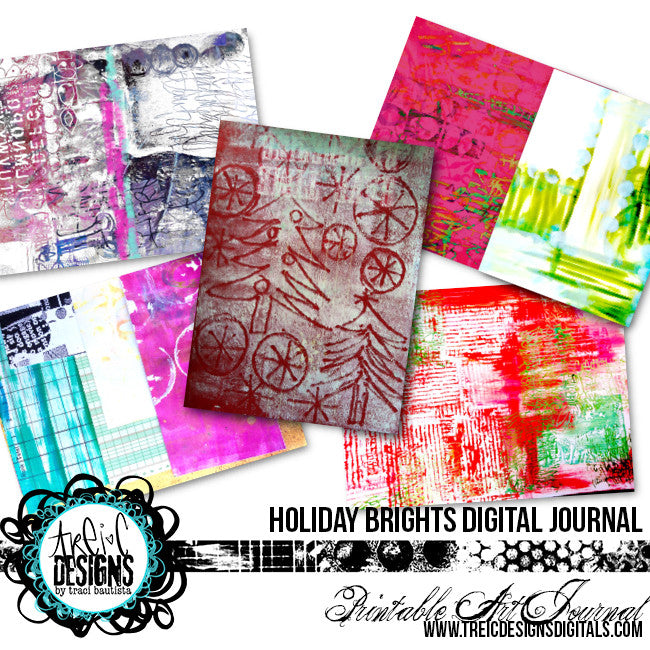 holiday BRIGHTS printable art journal + DIY planner