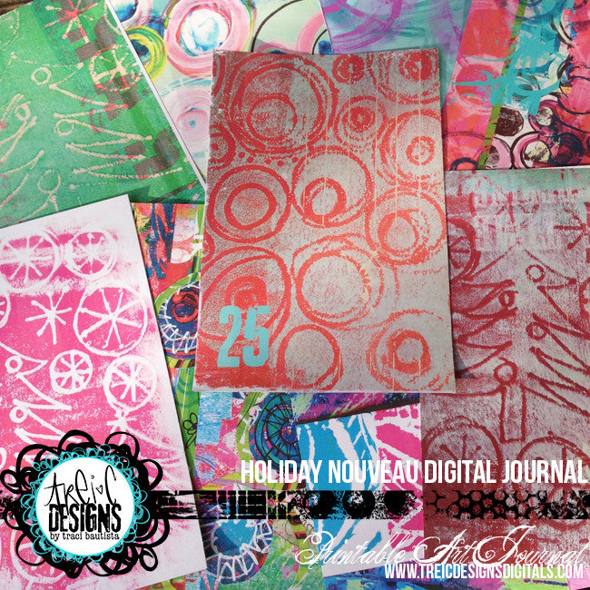 holiday NOUVEAU printable art journal