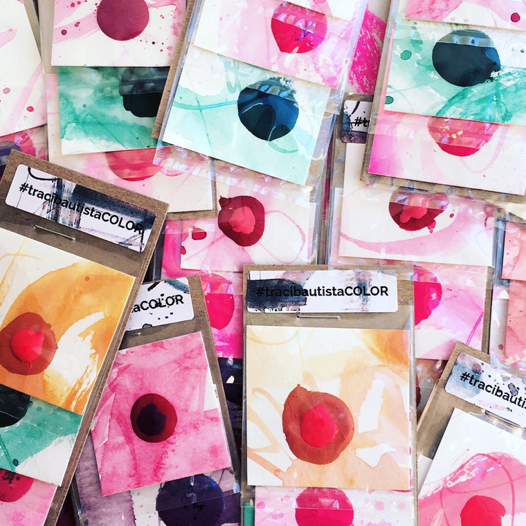 #tracibautistaCOLOR ~ MISC XL duo watercolor dot card set