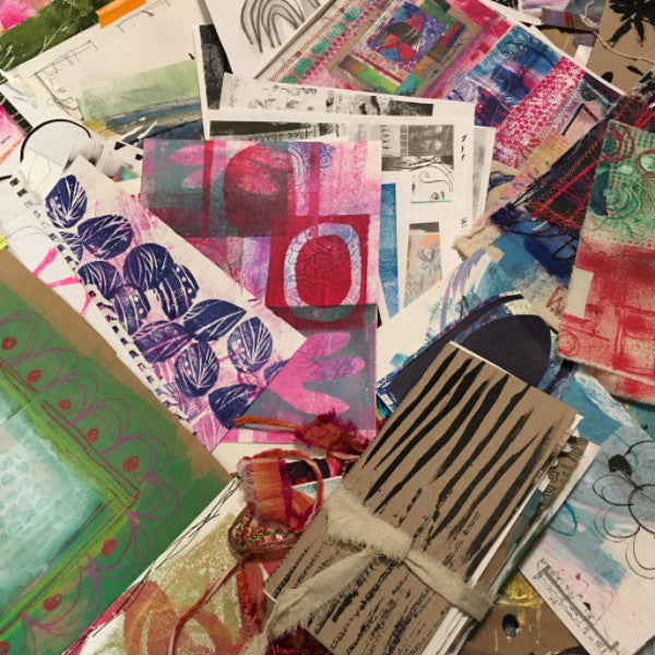 my journal making process includes painting and mark-marking papers & fabrics, these are then bound into my one-of-a-kind books in my FREE spirit handmade art journal collection by traci bautista