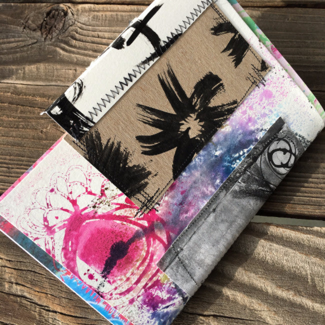{creativity FLOWS} FREE spirit handmade art journal by traci bautista