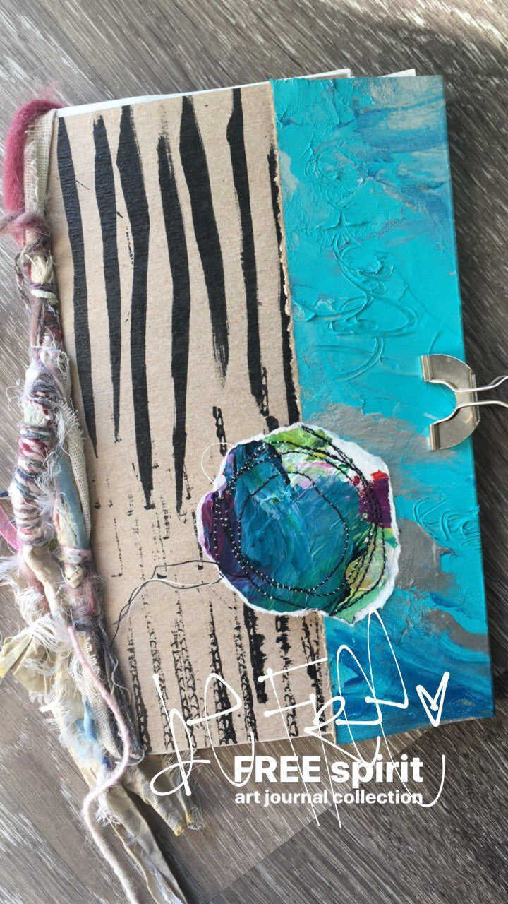 {peaceful soul} FREE spirit handmade art journal