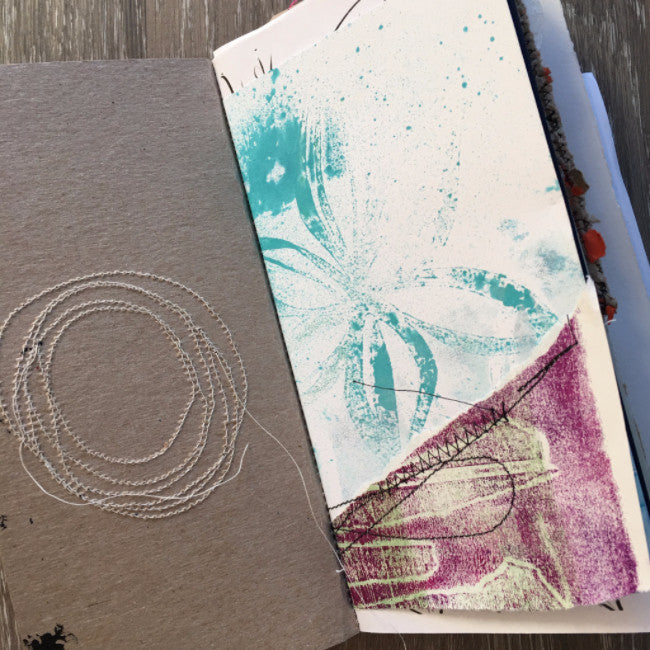 {explorer} FREE spirit handmade art journal by traci bautista