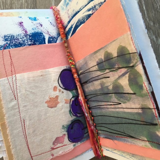 {creative SOUL} FREE spirit handmade art journal by traci bautista