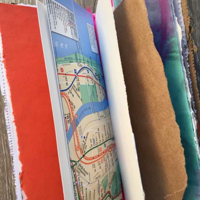 {BLISSFUL voyager} FREE spirit handmade art journal by traci bautista