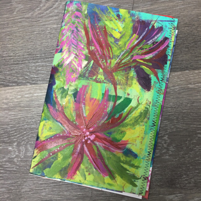 {FLORAL delight} FREE spirit handmade art journal by traci bautista