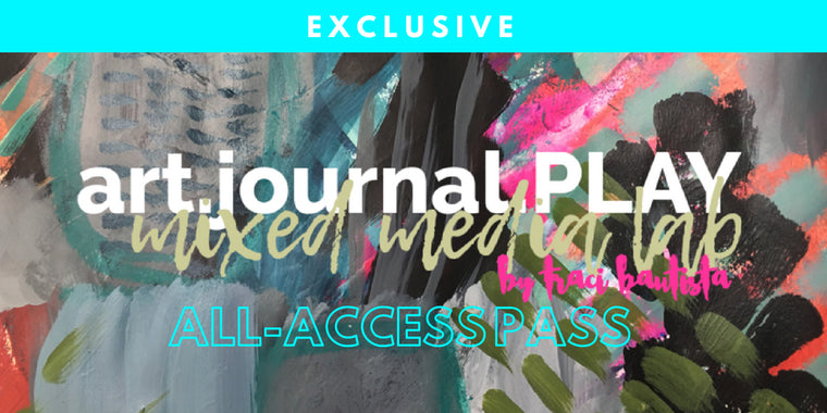 art.journal.PLAY mixed media lab ALL-ACCESS PASS {3-month}