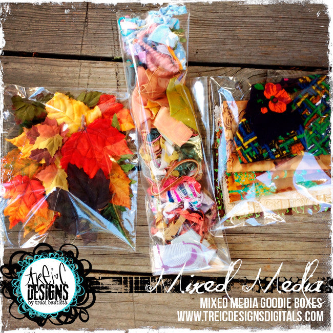 mixed media GOODIES box LARGE {studio destash} + BONUS live stream workshop