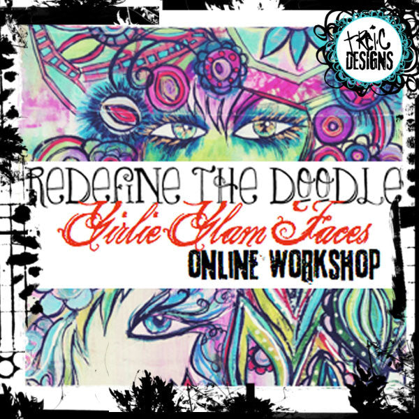 redefine the doodle: girlie glam faces