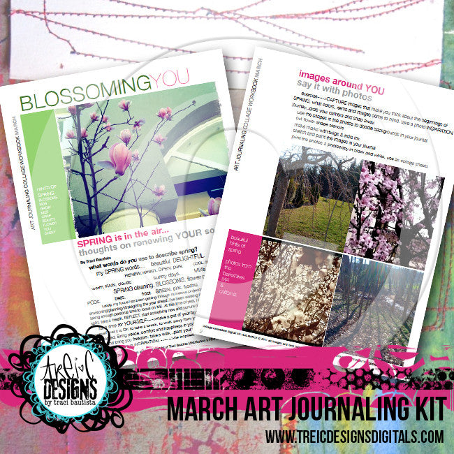 March art journaling printable workbook