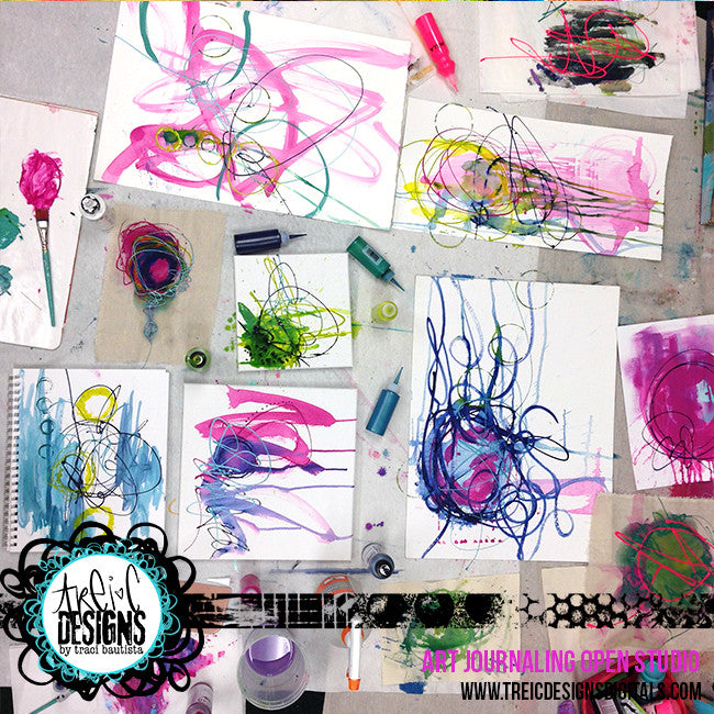 art journaling OPEN studio - SEPTEMBER