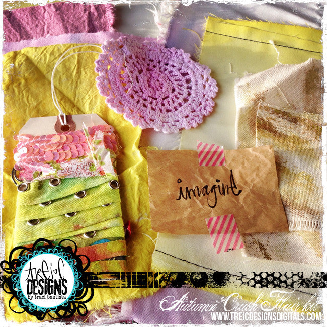 AUTUMN crush FLAIR kit + stencil