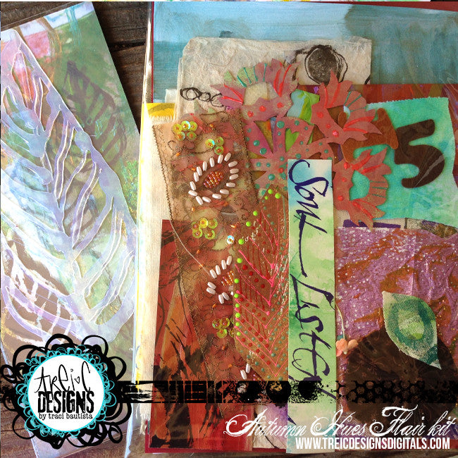 AUTUMN hues FLAIR kit + stencils