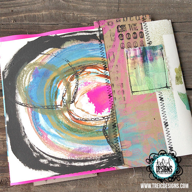 be FREE. let go. art quilt handmade journal