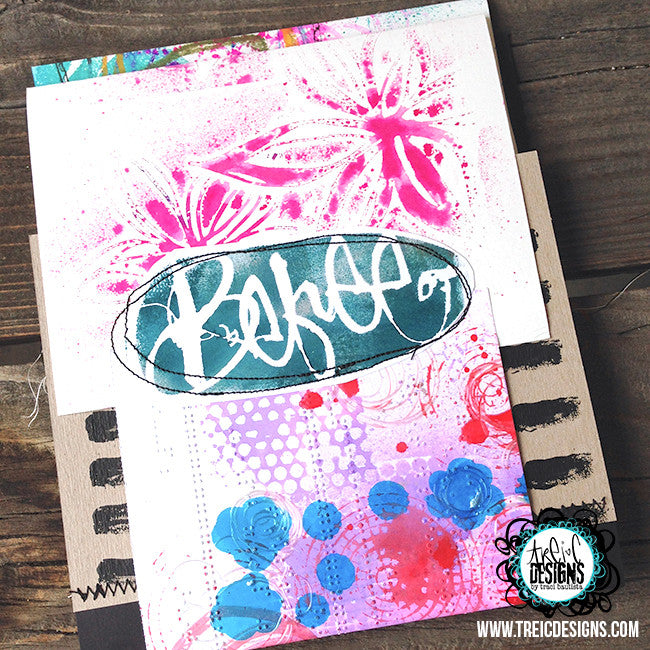 be FREE lily print art quilt handmade art journal