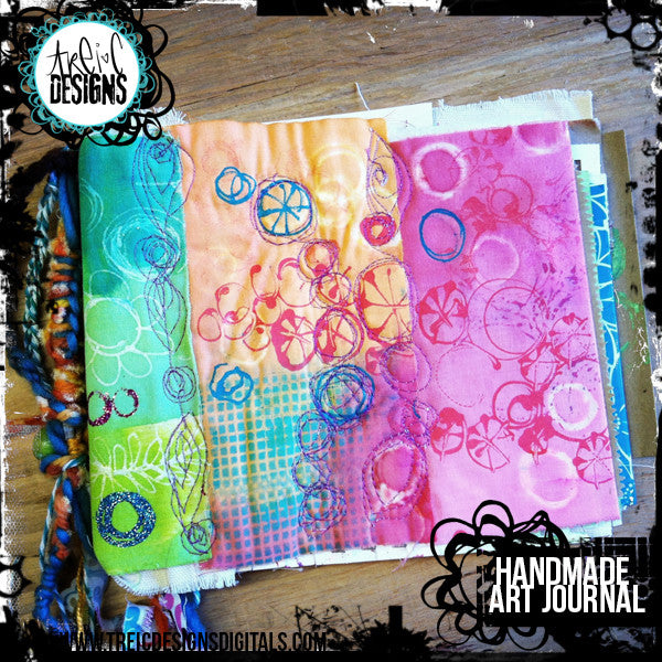 circles+stitches handmade art journal