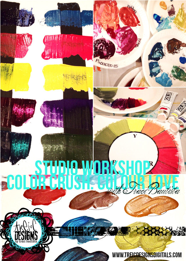 art journal PLAY date studio workshop: colorCRUSH.colourLOVE