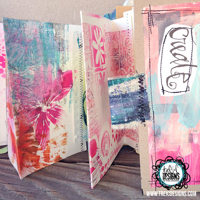 """surprise ME"" handmade art journal"