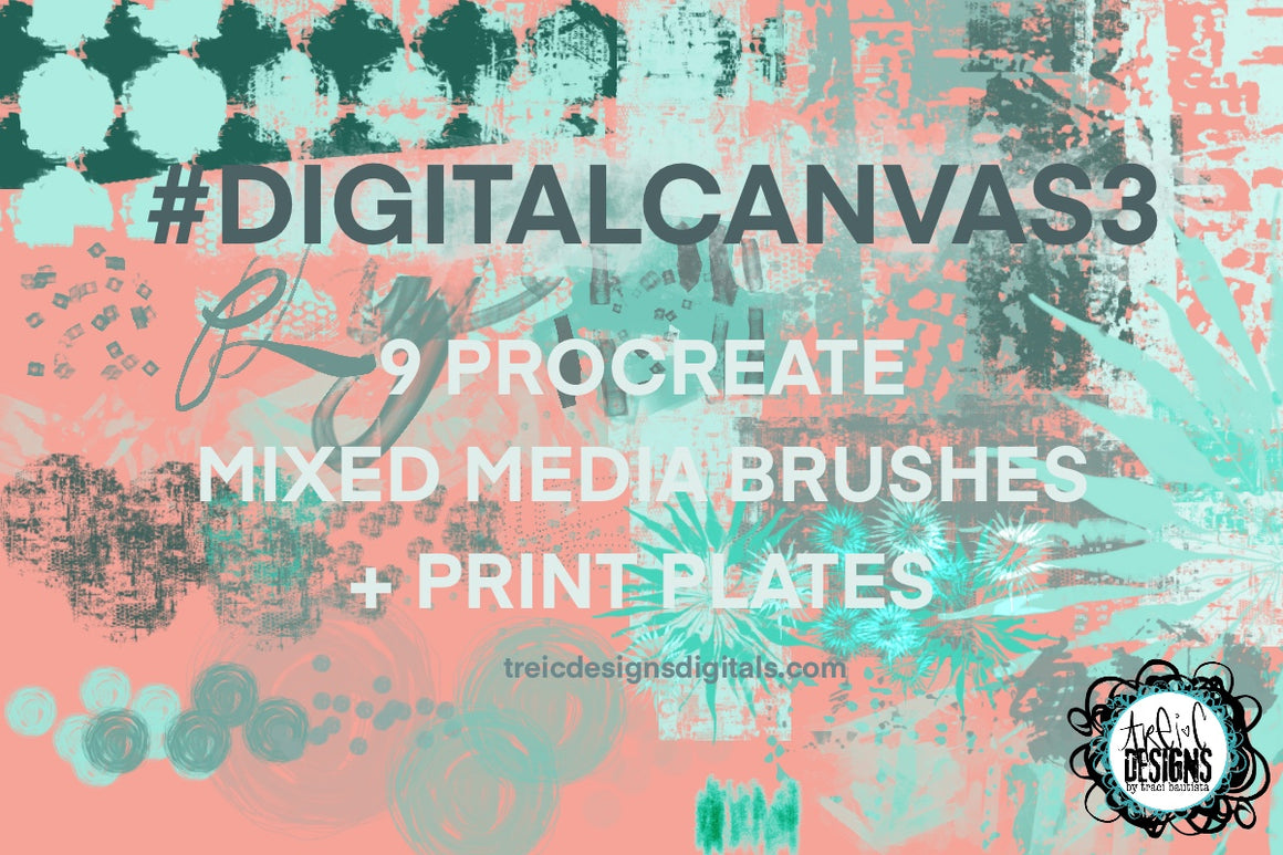 #digitalCANVAS3 Procreate brush set {mixed media kit}