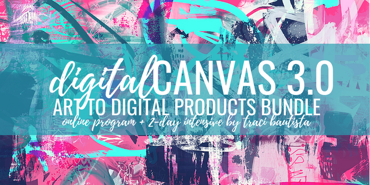 digitalCANVAS 3.0 ART to digital products bundle