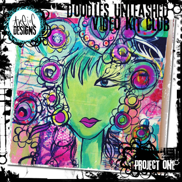 doodles unleashed book cover project video + kit