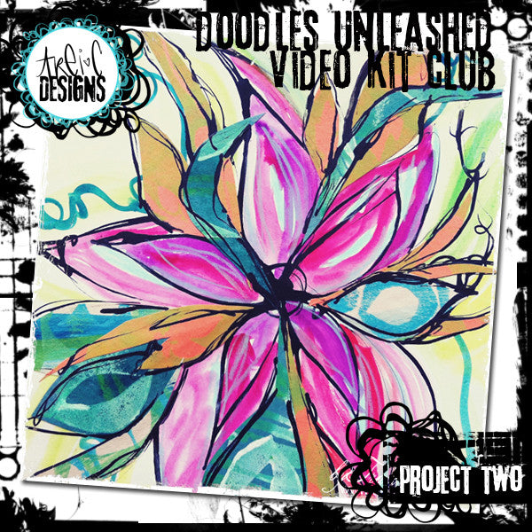Pipette Flowers mixed media project video + kit