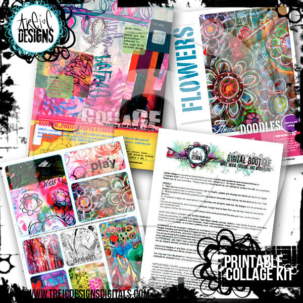 Doodles Unleashed collage printable