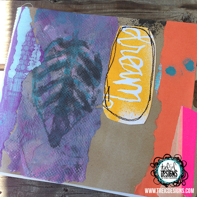 dream HEARTS collage handmade art journal