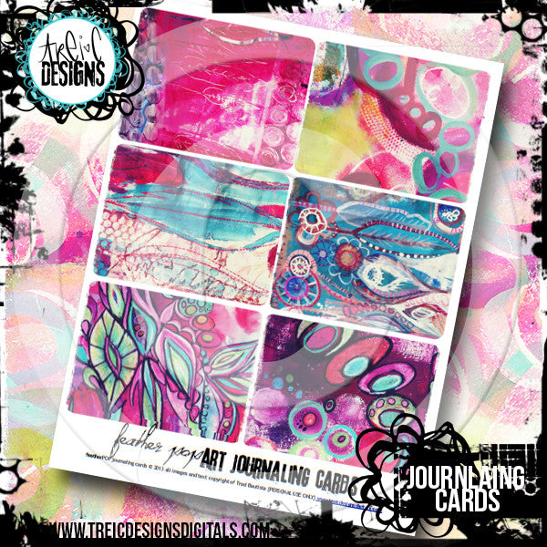 featherPOP art journaling cards