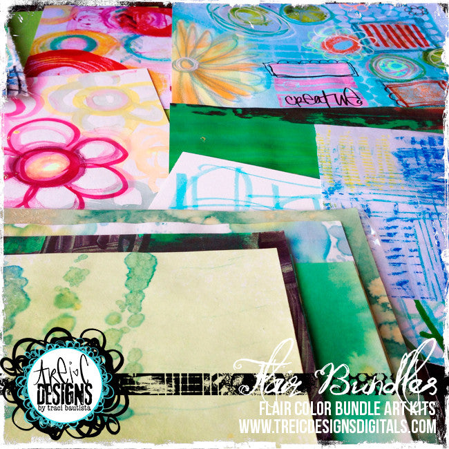 HOLIDAY bright paper FLAIR kit + stencil