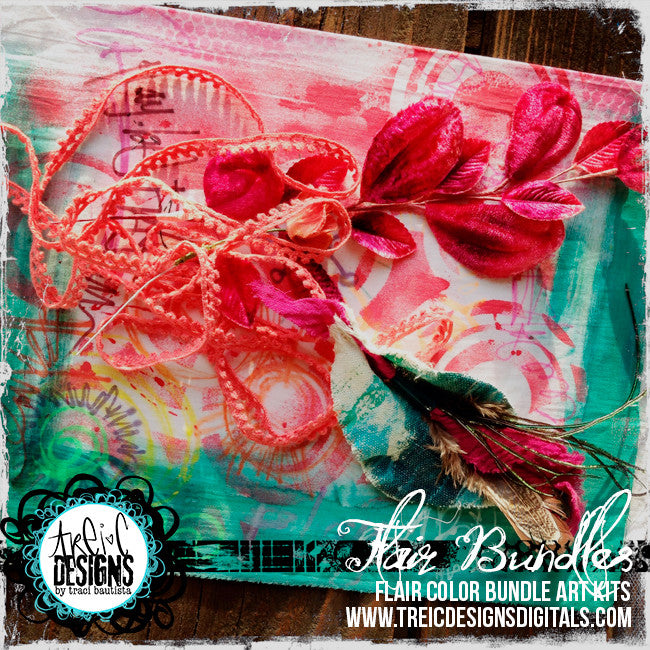 AUTUMN blossom FLAIR kit + stencil