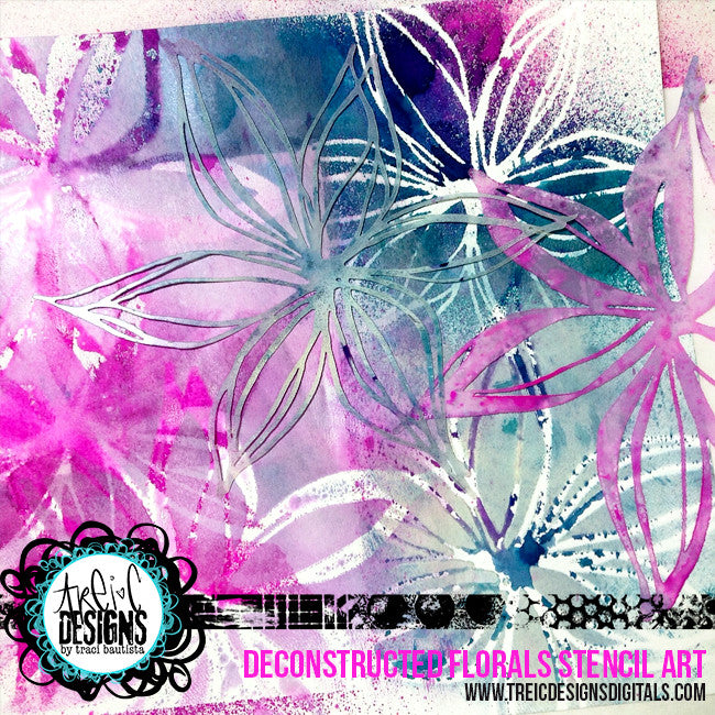 FLORAL stencil kit no. 1 + live stream