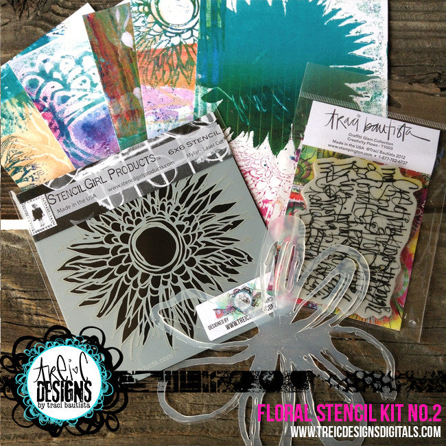 FLORAL stencil kit no. 2 + live stream