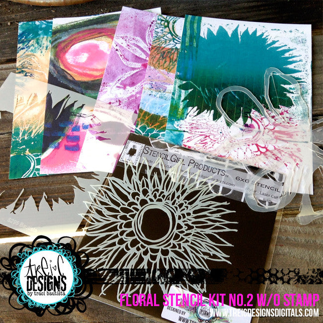 FLORAL stencil kit no. 2 + live stream {w/o stamp}