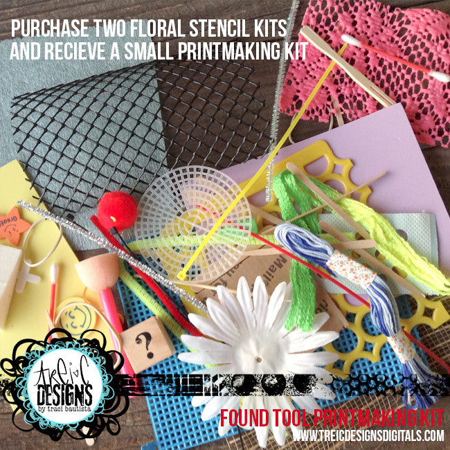 FLORAL stencil kit no. 3 + live stream