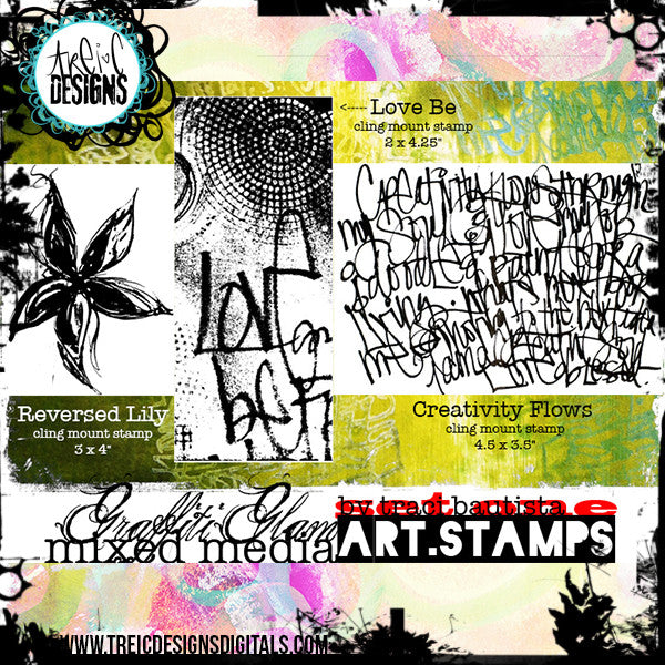 graffiti GLAM stamp set #1