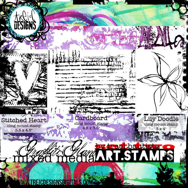 graffiti GLAM stamp set #2